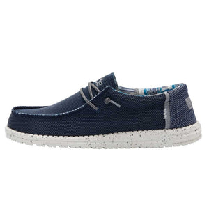 Dude Wally Sox Mens Kite Navy Slip On Shoes