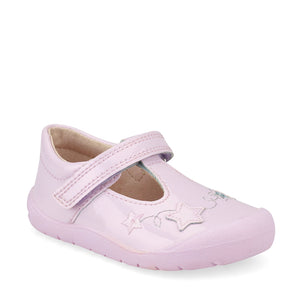Start-Rite Sparkle 0772-6 Girls Pale Lilac Glitter Patent First Shoe