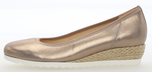 Gabor 82.641.62 Silk Metallic Ladies Leather Slip On Shoe