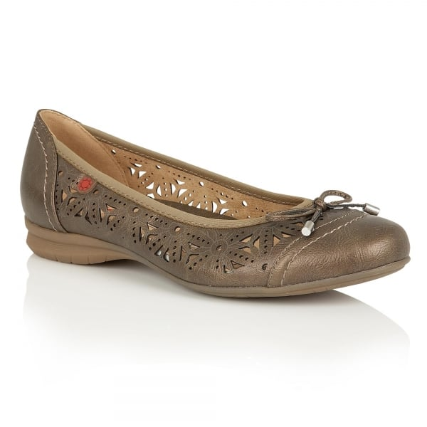 Lotus Relife Justyna Bronze Summer Pumps