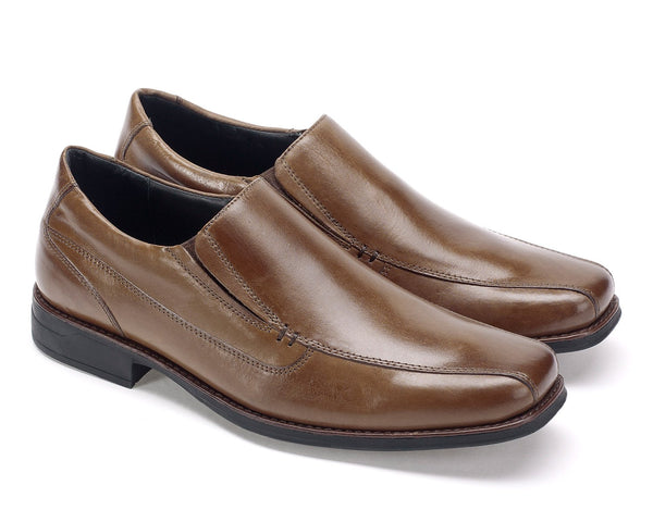 Anatomic Frutal Brown Leather Slip on Shoes
