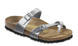 Birkenstock Mayari BF Silver Toe Loop Sandals - elevate your sole