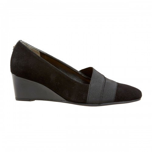 Van Dal Candor Black Suede & Patent Wider Fitting Shoes