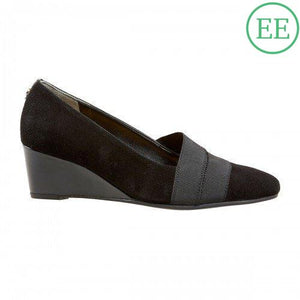 Van Dal Candor Black Suede & Patent Wider Fitting Shoes - elevate your sole