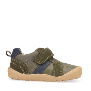 Start-Rite Twist Boys Khaki Hook and Loop Fastening Leather Shoes