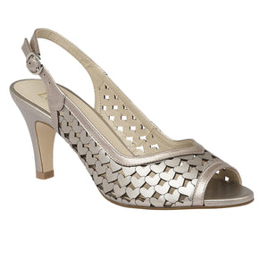 Lotus Canaan Pewter Metallic Slingback Sandals - elevate your sole
