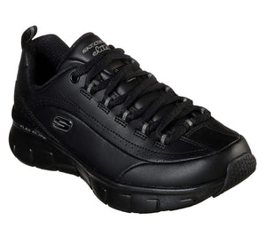 Skechers 13260 Synergy 3.0 Ladies Black Leather Lace Up Shoes