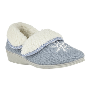 Lotus Irene Ladies Light Blue Wedge Slipper