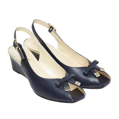 Van Dal Meade Navy Sling Back Leather Sandals