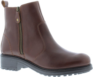Adesso Amy A5052 Brown Leather Chelsea Zip Up Ankle Boots - elevate your sole