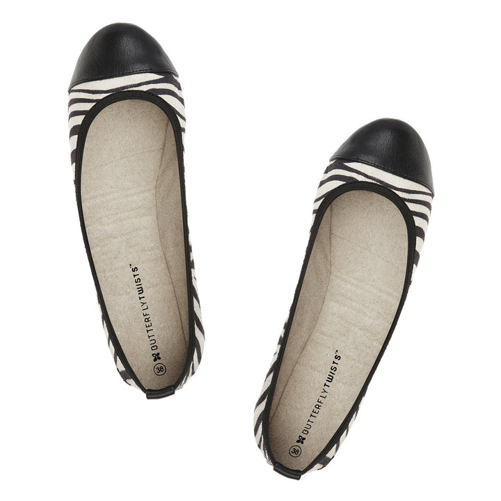Butterfly Twists Kate Zebra Print Pumps - elevate your sole