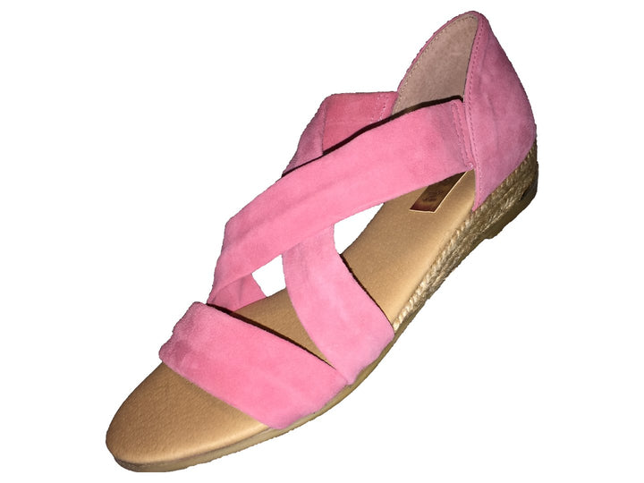 Pinaz Zara Coral Pink Ladies Suede Sandals - elevate your sole