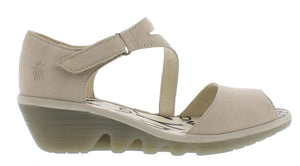 Fly Pona Cupido Ladies Cloud Leather Wedge Sandals