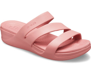 Crocs Monterey 206304 Ladies Blossom Strappy Wedge Sandal