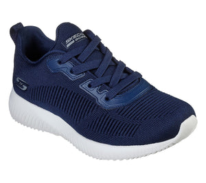 Skechers 32504 Bobs Squad Tough Talk Navy Lace Up Shoes - elevate your sole