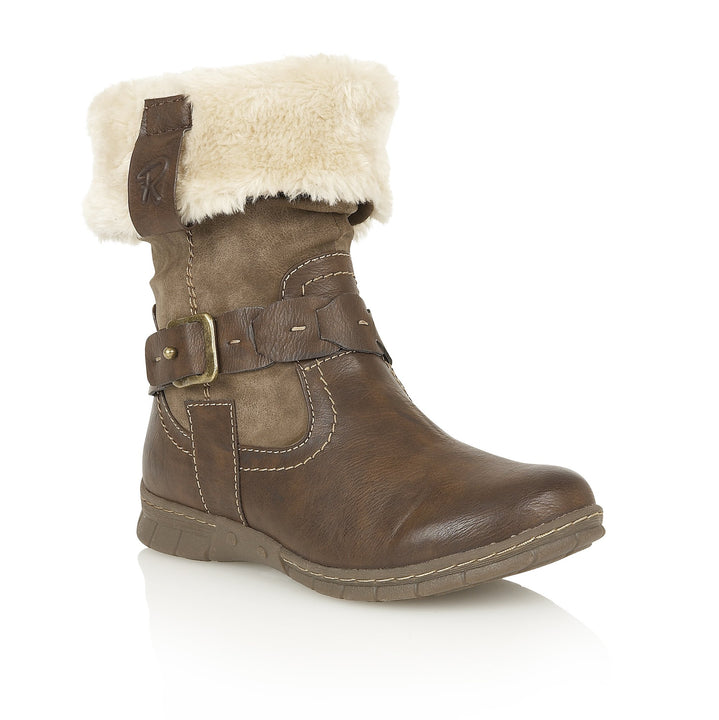 Size 36 (UK3) Only - Lotus Relife Roxana Brown Ladies Mid Calf Boots