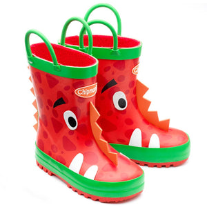 Chipmunk Ziggy Dinosaur Red Wellies