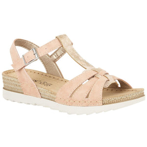 Lotus Charlene Ladies Pink Buckle Sandal