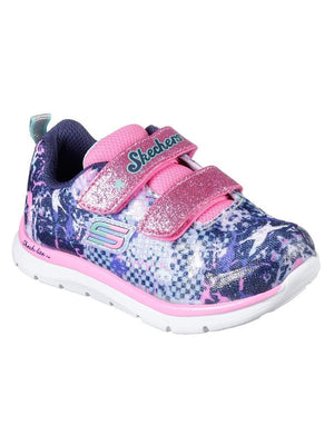 Skechers 82058N Skech Lite Girls Navy Multi Trainers - elevate your sole