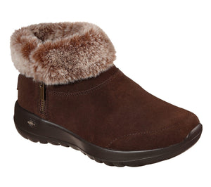 Skechers 144003 On The Go Joy Savvy Ladies Chocolate Warm Lined Ankle Boot