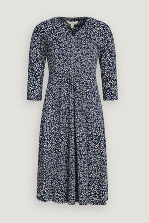 Seasalt 3/4 Quinn Dress Ladies Leaf Marks Waterline