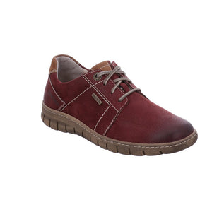 Josef Seibel Steffi 59 Bordo Red Leather Lace Up Shoes - elevate your sole
