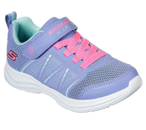 Skechers 302302L Glimmer Kicks Shimmy Brights Girls Periwinkle Trainers