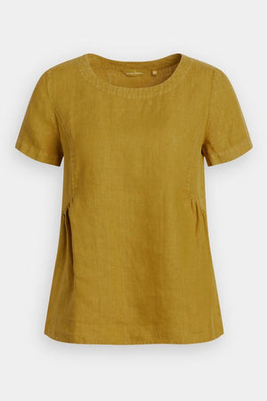 Seasalt Womens Stone Worker Linen Top Pear