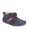 Start-Rite Twist Navy Leather/Suede Hook and Loop Strap First Steps Shoe - elevate your sole