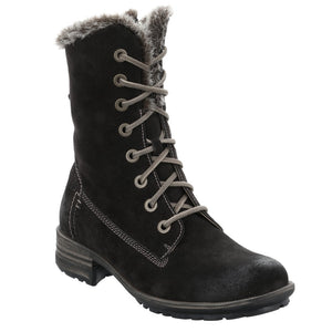 Josef Seibel Sandra 93 Titan Black Lace Up Mid Calf Boots - elevate your sole