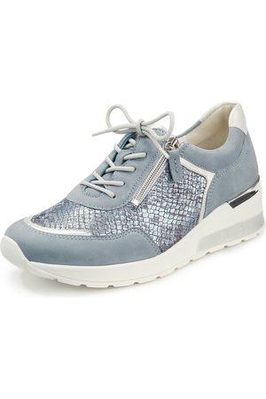 Waldlaufer 939008 500 267 H Clara Ladies Kobra Sky Silber/ Blue Snake Print  Metallic Leather Lace Up Shoe