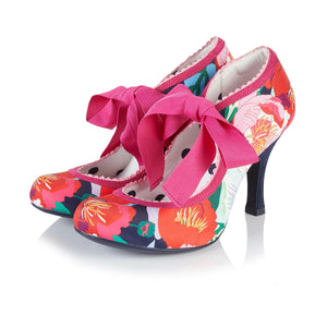 Ruby Shoo Willow Ladies Floral High Heel Shoes