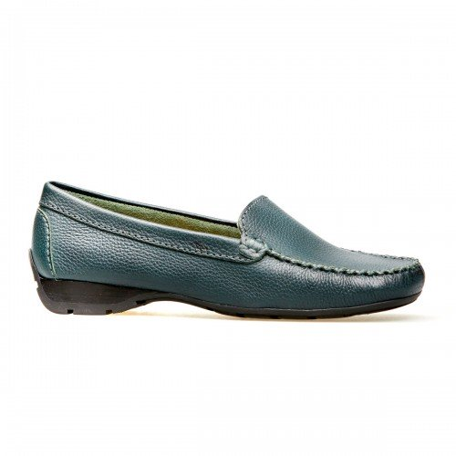 Van Dal Sanson Green Leather Loafer Shoes