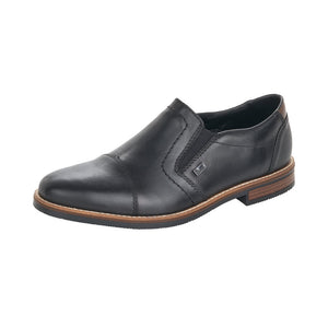 Rieker 13572-00 Mens Black Leather Slip On Shoe