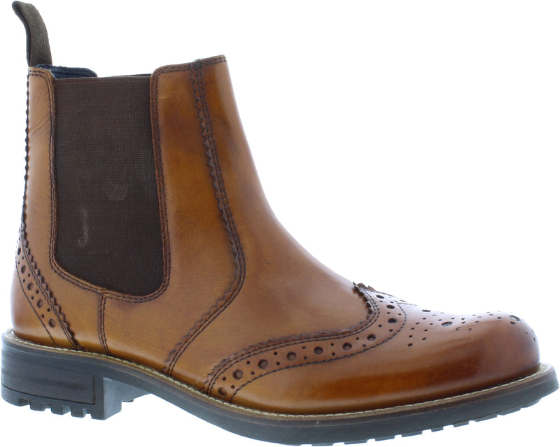COUNTRY JACK LOGAN LEATHER GENTS CHELSEA BOOTS DEALER SLIP ON PULL NEW MENS