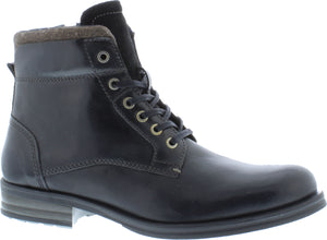 Country Jack Mark 9534 Mens Black Leather Lace Up Boots - elevate your sole