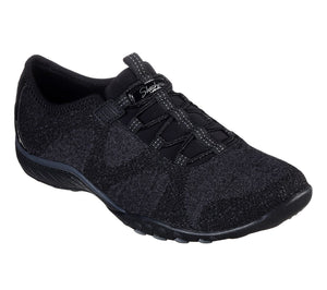 Skechers 23855 Breathe Easy Opportuknity Black Slip on Shoes - elevate your sole
