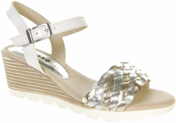 Adesso A3635 Jola Metallic Leather Sandals