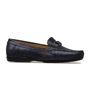 Van Dal Bliss Ladies Midnight Crackle Print Leather Loafer