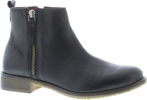 Adesso Megan A5047 Black Leather Zip Up Ankle Boots - elevate your sole