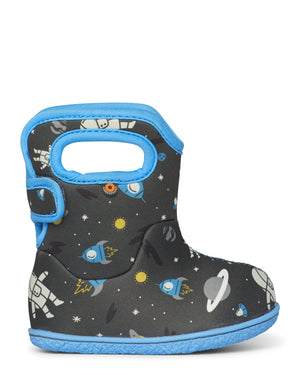 Bogs Baby Bogs Space Kids Dark Grey Multi Waterproof Wellington Boots