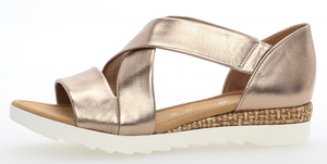 Gabor 82.711.91 Grata Metallic Leather Slip On Sandal