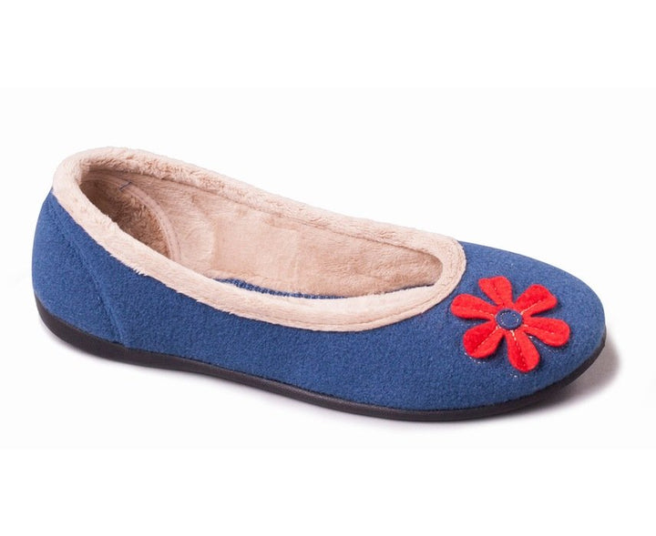 Padders Happy Blue Ladies Wider Fitting Slippers - elevate your sole