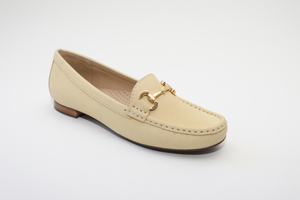 Elevate Your Sole 25836 Sunflower Ladies Yellow Nubuck Leather Loafers