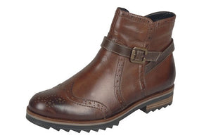 Remonte R2278-24 Brown Leather Ankle Boots - elevate your sole