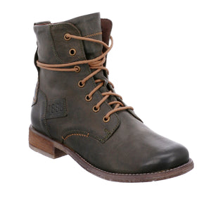 Josef Seibel Sienna 63 Olive Lace Up Ankle Boots - elevate your sole
