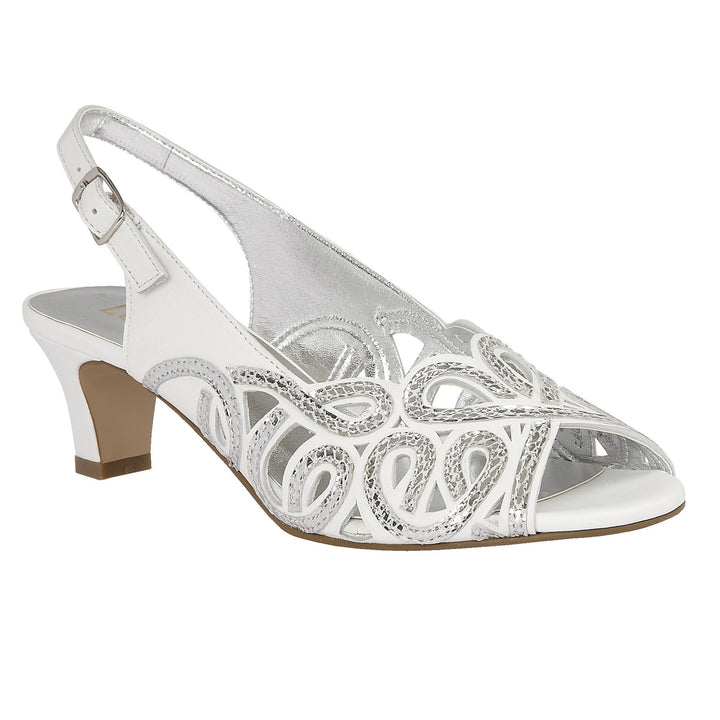 Lotus Harper White & Snake Print Leather Sandals - elevate your sole