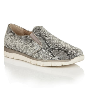Lotus Relife Lucia Black Snake Print Casual Shoes - elevate your sole