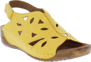 Adesso A6063 Naomi Ladies Canary Yellow Adjustable Sandals
