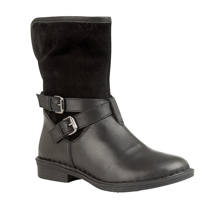 Lotus Gallatin Black Leather/Suede Ankle Boots - elevate your sole